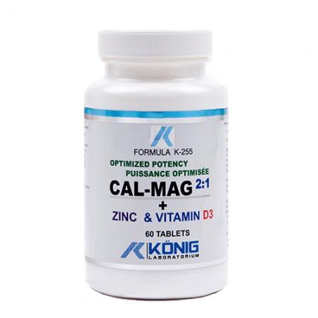 Cal-Mag 2:1 - potenta optima calciu, magneziu, zinc si vitamina D