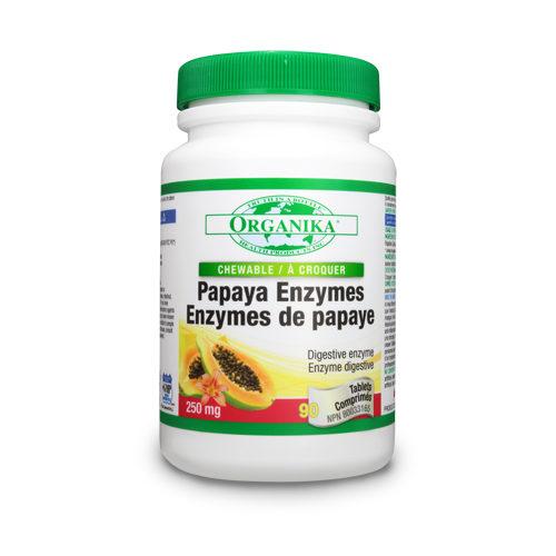 Enzime din papaya (papaina)